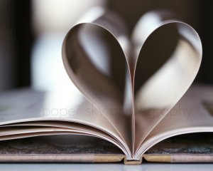 Book Heart Print by Paper Sky Photography