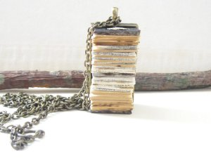 Book Necklace Pendant by PaperMemoirs