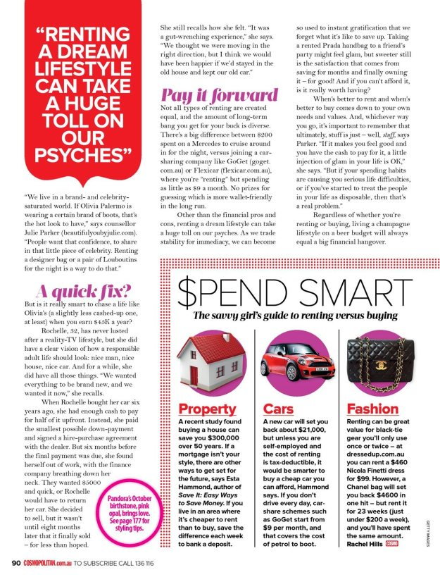 Rochelle Stone Barefoot Basics Cosmopolitan Interview October 2012