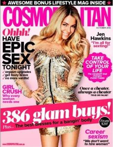 Jennifer Hawkins Cosmopolitan Magazine October 2012