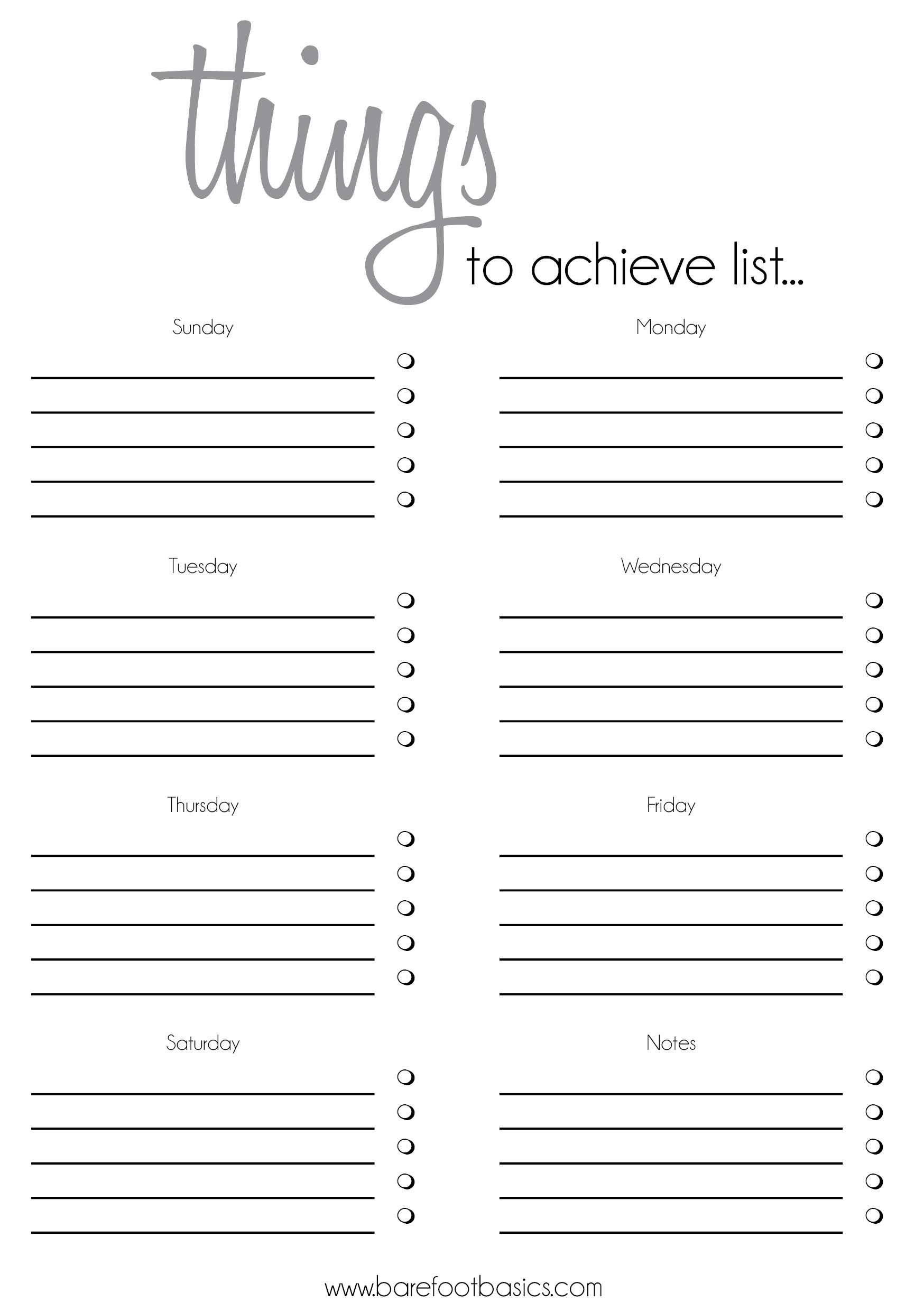 To Do Checklist Template Free printable ledger pages – Free List Templates