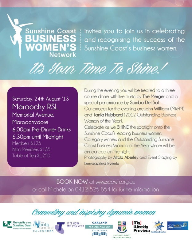 Sunshine Business Woman of the Year Awards Online & Print Advert