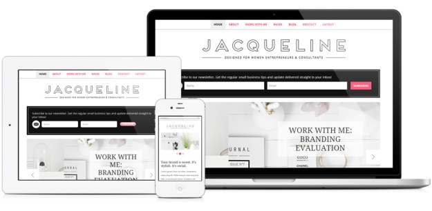 Jacqueline WordPress Theme by BluChic